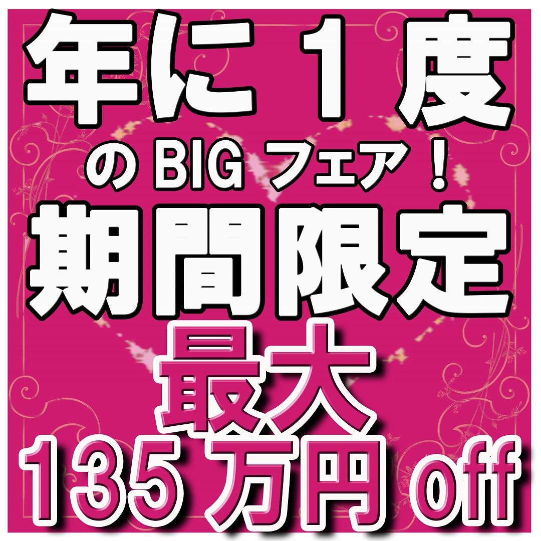 残3組★★年に1度のBIGフェア★★最大135万円お得!7/31まで!